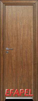 Алуминиева врата за баня Ефапел - цвят Императорска акация
