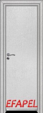 Алуминиева врата за баня Ефапел - цвят Лен