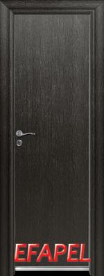 Алуминиева врата за баня Ефапел - цвят Черна мура