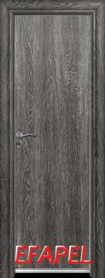 Алуминиева врата за баня Ефапел - цвят Сив ясен