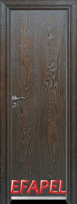 Алуминиева врата за баня Ефапел - цвят Палисандър