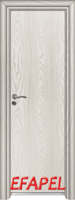 Алуминиева врата за баня Ефапел - цвят Бяла мура